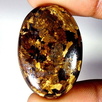 49.45Cts Designer A+ 100% Natural Bronzaite Oval Cab Loose Gemstone