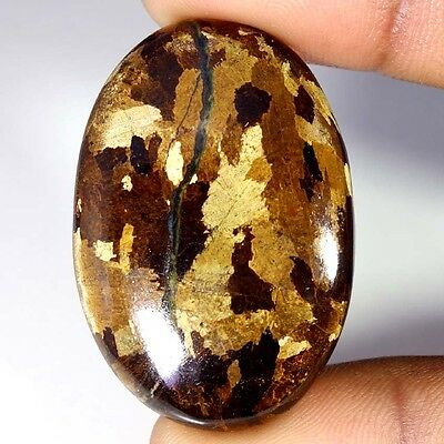 65.20Cts Designer A+ 100% Natural Bronzaite Oval Cab Loose Gemstone