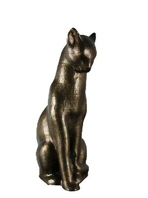 "Holiday Sale!! 1.2 Ft. Handmade Egyptian Bronze Cat Statue ""Bastet"""