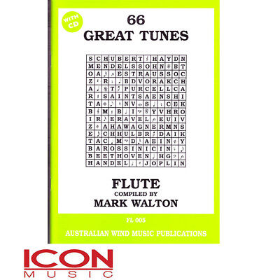 66 Great Tunes Flute - by Mark Walton