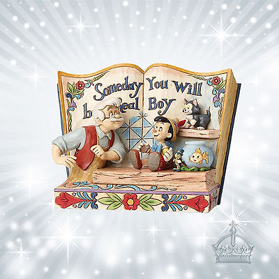 """Pinocchio """"Storybook""""  Jim Shore Disney *Someday you will be a Real Boy* 4057957"""