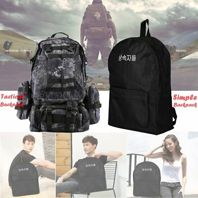 55L Molle Outdoor Military Tactical Bag Camping Hiking Trekking Backpack US SHIP
