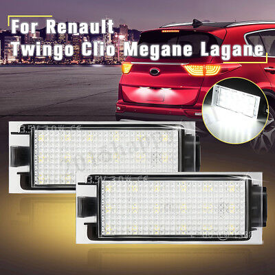 2x Canbus LED Licence Number Plate Light For Renault Clio Laguna Megane Twingo