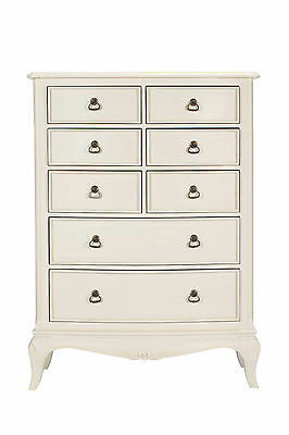 Bordeaux Antique White Mahogany French Style 8 Drawer Chest Of Drawers