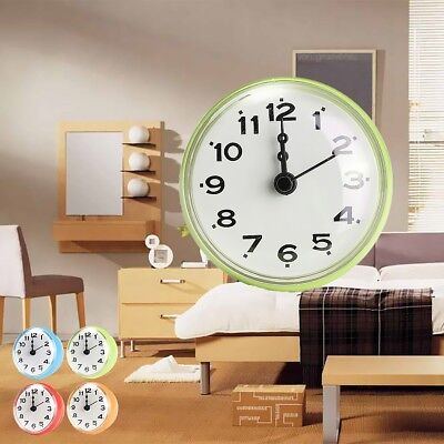 Waterproof Kitchen Bathroom Bath Shower Wall Clock With Suction Cup Sucker