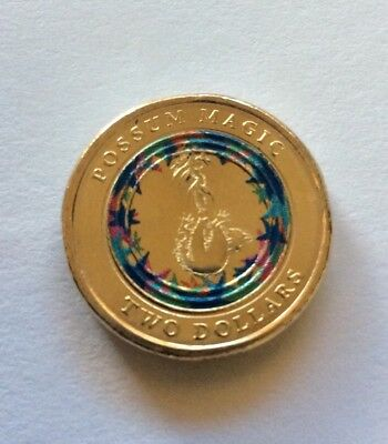 """2017 """" Possum Magic """" Coloured $2 Coin, *uncirculated* From Woolworths (Week 1)"""