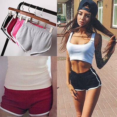 Women Girl Sports Shorts Running Gym Fitness Short Pants Workout Yoga Casual