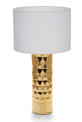 MOOD - Gold Ceramic Lamp with White Shade
