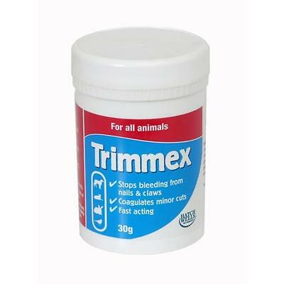 Hatchwells Trimmex Styptic Powder Dog Cat Bird Rabbit Wound STOPS BLEEDING 30g