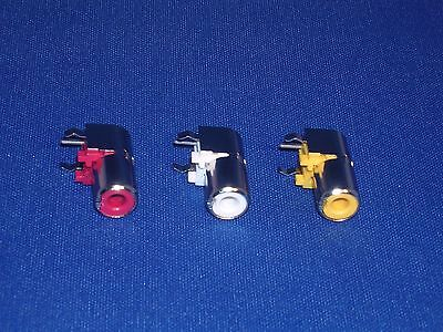 Phono Sockets (Rca) - 90⁰ Pcb Mount - 1 Off  Each Colour  Red,white & Yellow