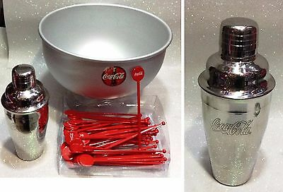 Coca Cola Set Cocktail Sangria Con Shaker In Acciaio Originale