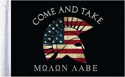 "Pro Pad 6""x9"" Molon Labe Come and Take Motorcycle Flag"