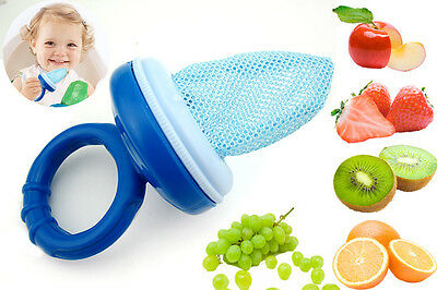 Baby Dummy Pacifier Fresh Food/Fruit Veg Feeder, Nibbler, Mesh Bag Chew Dummy.