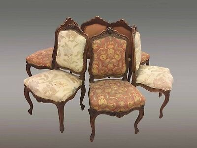 Suite de six chaises style Louis XV noyer