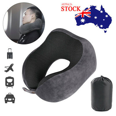 Memory Foam Rebound U-shape Pillow Travel Neck Support Car Flight Headrest Pad
