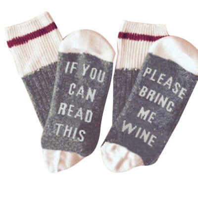 Neu Custom Socken If You can read this Bring Me a Glass of Wine Weiche Sock JO