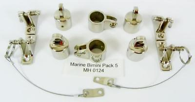 Marine Bimini Canopy Stainless Steel fittings  pack 5 MH 0124