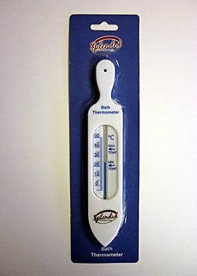 Check the water is not too hot! WHITE BATH THERMOMETER - Ideal for babies or