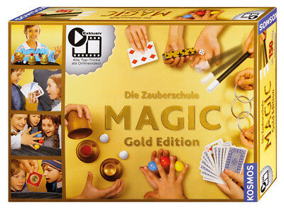 KOSMOS Zauberschule Magic Gold Edition | Kinder Zauberkasten 150 Zaubertricks