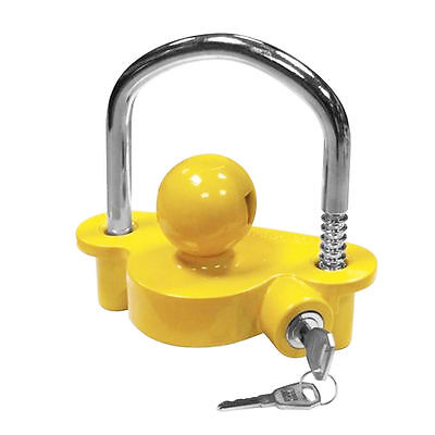 Caravan Safety Tow Hitch Universal Trailer High Quality Yellow Coupling Lock  AS