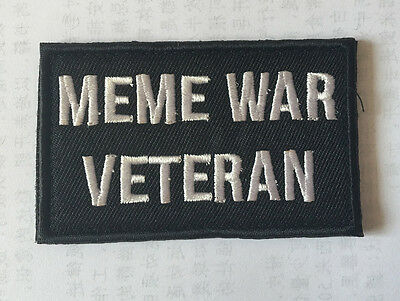 ME ME WAR VETERAN MILITARY MORALE BADGES EMBROIDERED HOOK PATCH   sh+1041