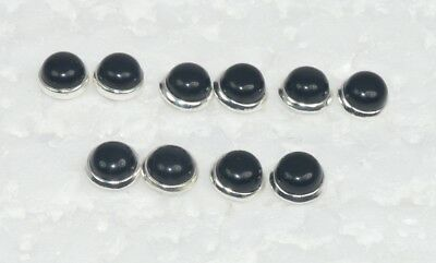 Wholesale 5Pair 925 Solid Sterling Silver Natural Black Onyx Stud Earring Lot
