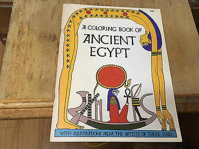 A Coloring Book of Ancient Egypt, Unused 1969