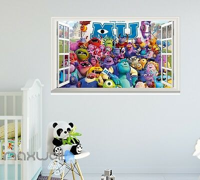 University of monsters monsters inc monsters university window wall sticker art