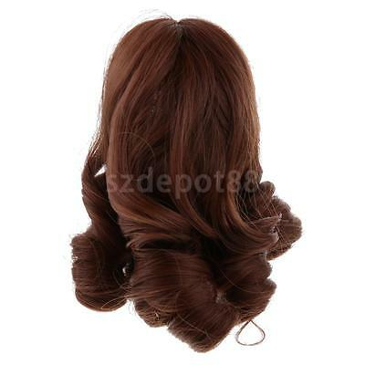 15cm Hair Doll Wig for 18'' American Girl Dolls Accessories Dark Khaki