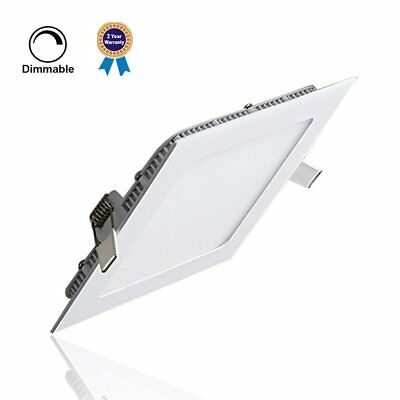 15W Dimmable LED Recessed Panel Light Ceiling Downlight Lamp Fixture Square as