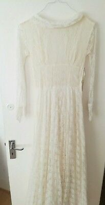 A Stunning Lace vintage white wedding dress Original 40/50s