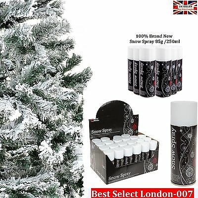 XMas White Snow Spray New Christmas Party Flake Craft Tree Birthday Decor