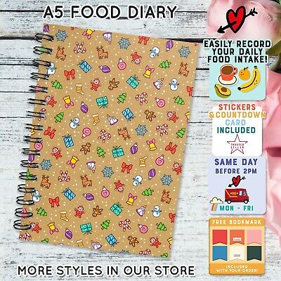 FOOD DIARY DIET WEIGHT LOSS NOTEBOOK TRACKER SLIMMING EXTRA EASY SPEED/ Unicorn