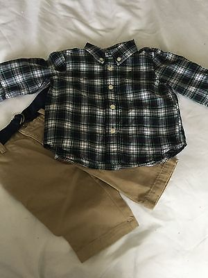 Boys  Ralph Lauren  2 Piece Set   New   Age 3  Month  Trousers And Shirt