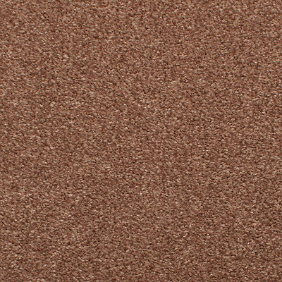 Light Brown Brown Hessian Back Budget Saxony Carpet, Cheap Hardwearing Soft Pile