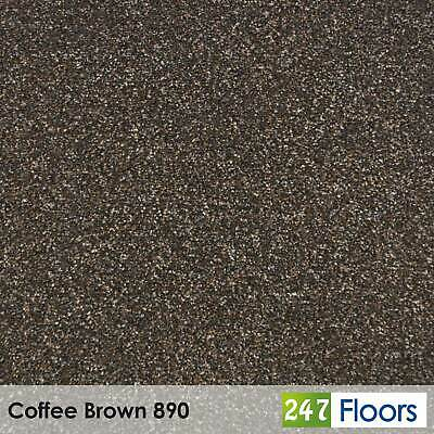 Coffee Brown 890 Moorland Carpet Flecked Twist Pile Action Felt Back 4m & 5m