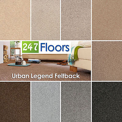 Urban Legend Carpet - Stain Resistant Saxony - Quality Feltback - ONLY £6.49m²