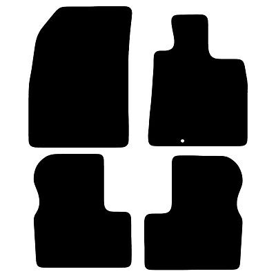 Tailored Black Car Floor Mats Carpets 4pc Set with Clips for Nissan Micra