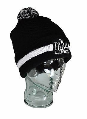 The Beatles Liverpool Fab 4 Knitted Bobble Hat Gift Collectable Premium
