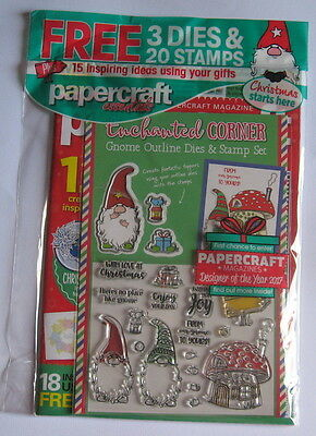 Papercraft Essentials Magazine 150 with Enchanted Corner Gnome Dies & Stamps.