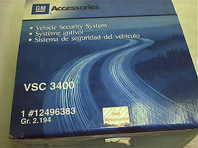 GENUINE GM Vehicle Security System for GM Vehicles VSC-3400 No Reserve