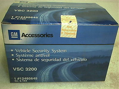 GENUINE GM Vehicle Security System for GM Vehicles VSC-3200 No Reserve