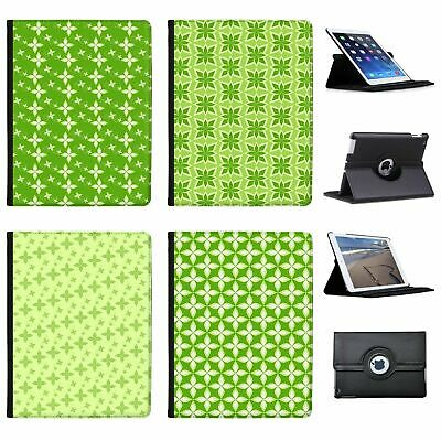 Gorgeous Green Plant Floral Patterns Folio Cover Leather Case For Apple iPad
