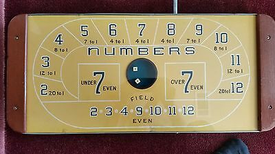 Trade Stimulator - Craps Layout Dice Game  circa 50's to 60's. Gambling