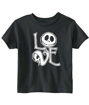 "Nightmare Before Christmas ""Jack And Sally Love"" Unisex Toddler T-Shirt"