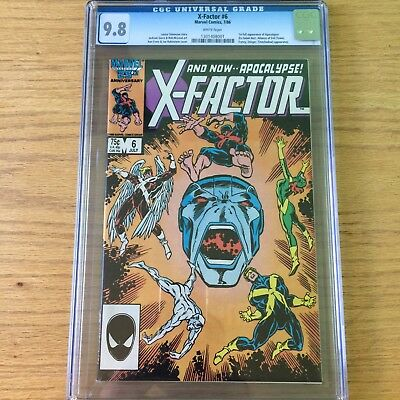 X-Factor 6 CGC 9.8! First Appearance of Apocalypse!