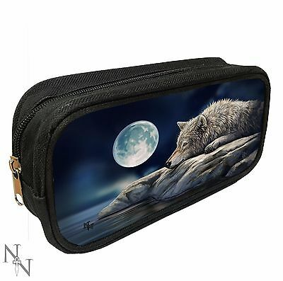 NEW LISA PARKER  3D PENCIL CASE MAKE UP BAG - QUIET REFLECTION wolf