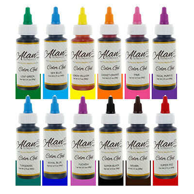 Professional Premium Food Color Gel Kit, Twelve Colors 2 Ounces by Chef Alan