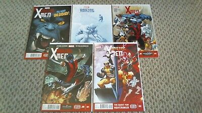 Amazing X-Men #1-5, 1 2 3 4 5 Run Lot Set Marvel 2014 /1147/