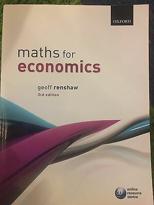 Maths for economics geoff renshaw
